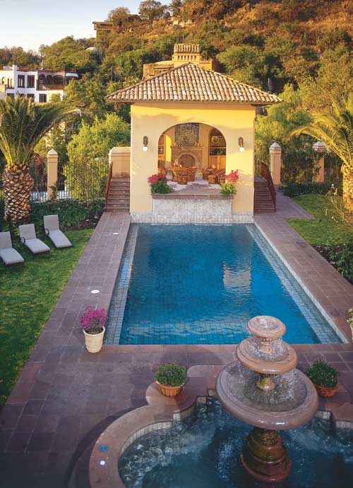 Casa Carino's pool house